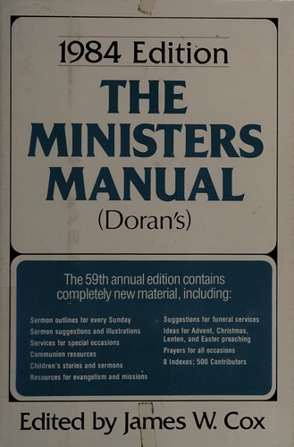 The Ministers Manual for 1984