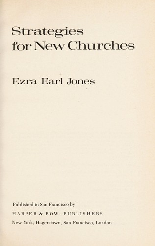 Strategies for New Churches