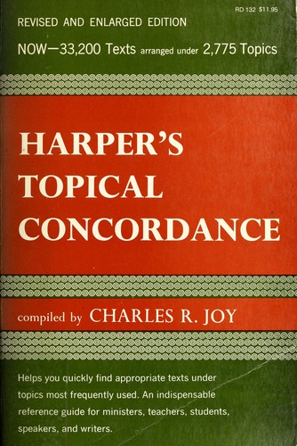 Harper's Topical Concordance of the Bible