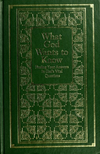 What God Wants to Know