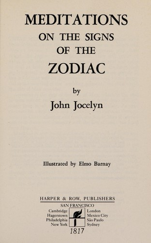 Meditations on Signs of the Zodiac