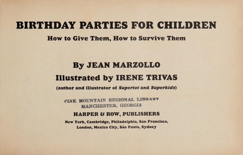 Birthday Parties for Children