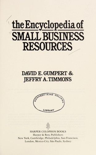 The Encyclopedia of Small Business Resources