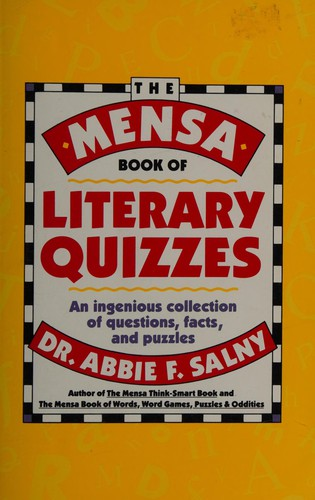 Mensa Book of Literary Quizzes