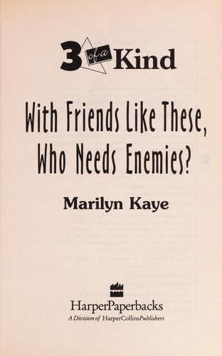With Friends Like These, Who Needs Enemies?