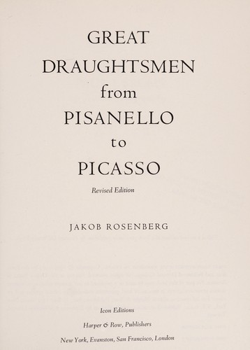 Great Draughtsmen from Pisanello to Picasso