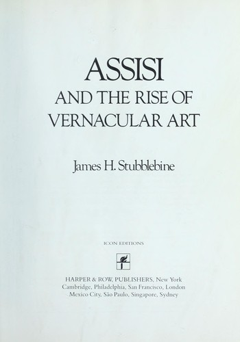 Assisi and the Rise of Vernacular Art