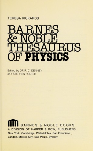 Barnes & Noble Thesaurus of Physics