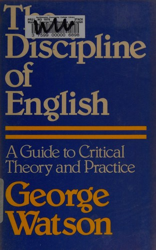 The Discipline of English