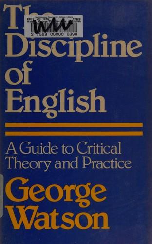 The Discipline of English