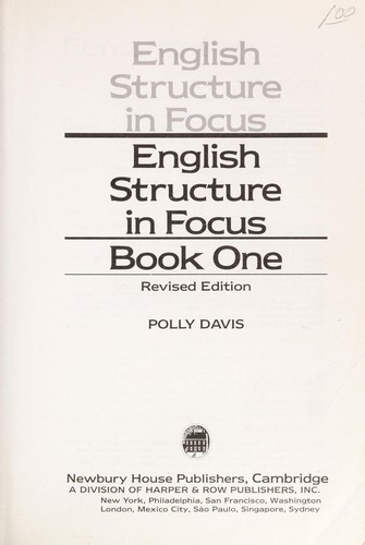 English Structure in Focus