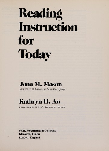 Reading Instruction for Today