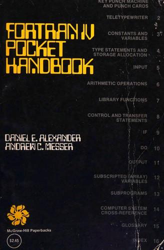 FORTRAN IV Pocket Handbook