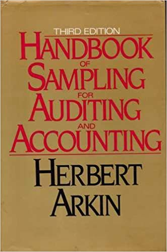 Handbook of Sampling for Auditing and Accounting