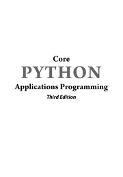 Core Python Applications Programming PDF Download
