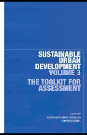 Sustainable Urban Development, Vol. 3: A Toolkit For Assessment PDF Download