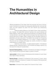 The Humanities In Architectural Design: A Contemporary And Historical Perspective PDF Download
