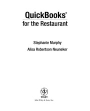 Quickbooks For The Restaurant PDF Download