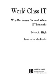 World Class IT: Why Businesses Succeed When IT Triumphs PDF Download