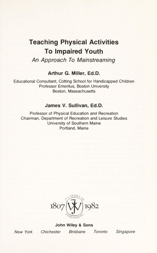 Teaching Physical Activities to Impaired Youth