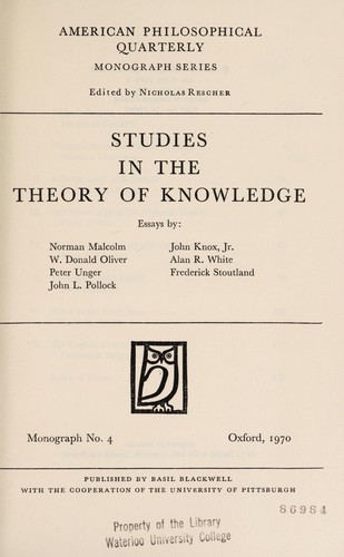 Studies Theory Knowledge