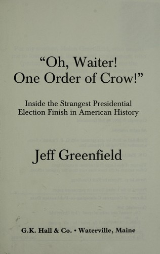 Oh, Waiter! One Order of Crow!
