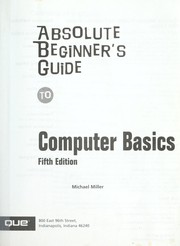 Absolute Beginner's Guide To Computer Basics PDF Download