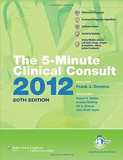 5 - Minute Clinical Consult 2012