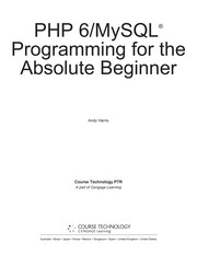 PHP 6/MYSQL Programming For The Absolute Beginner PDF Download