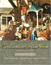 Cover of: Civilization in the West, Vol. B