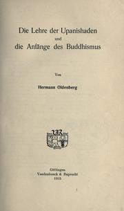Die Lehre der Upanishaden und die Anfänge des Buddhismus