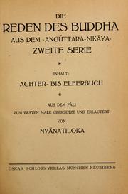 """Die Reden des Buddha aus dem """"Angúttaranikaya"""""""
