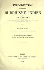 Introduction à l'histoire du buddhisme indien