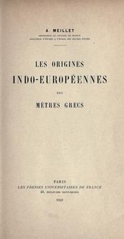 Les origines indo-européennes des mètres grecs