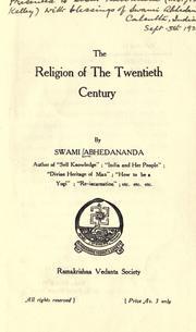 The religion of the Twentieth Century