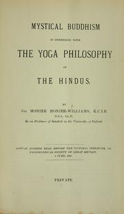 Mystical Buddhism in connexion with the Yoga philosophy of the Hindus