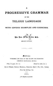 A Progressive Grammar of the Telugu Language with Copious Examples and Exercises