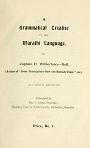 A grammatical treatise of the Marathi language