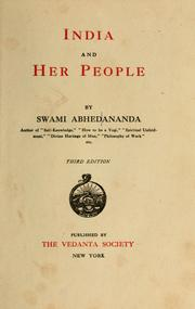India and her people