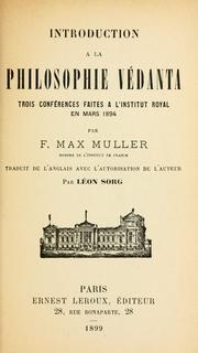 Introduction à la philosophie védanta