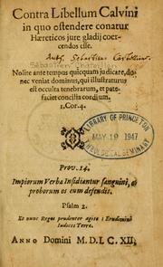 Castellio - Contra libellum Calvini