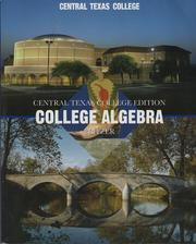 Cover of: College Algebra: Central Texas College Edition