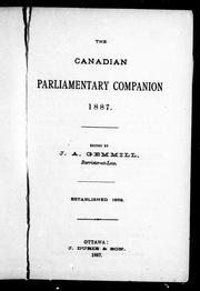 Cover of: The Canadian parliamentary companion, 1887
