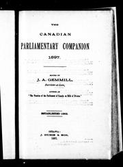 Cover of: The Canadian parliamentary companion, 1897