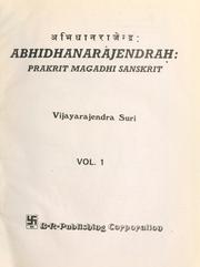 Abhidhānarājendraḥ =