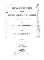 Philosophische Hymnen aus der Rig- und Atharva-veda-Sanhitâ