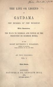 The life, or legend, of Guadama, the Buddha of the Burmese