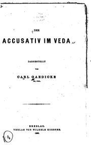 Der Accusativ im Veda