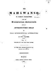 The Maháwanṣo in roman characters