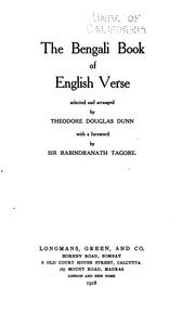 The Bengali book of English verse